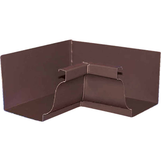 Amerimax 5 In. Galvanized Brown Mitre Gutter Inside Corner