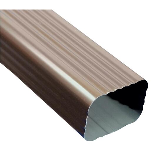 Amerimax 2 In. x 3 In. Brown Galvanized Downspout