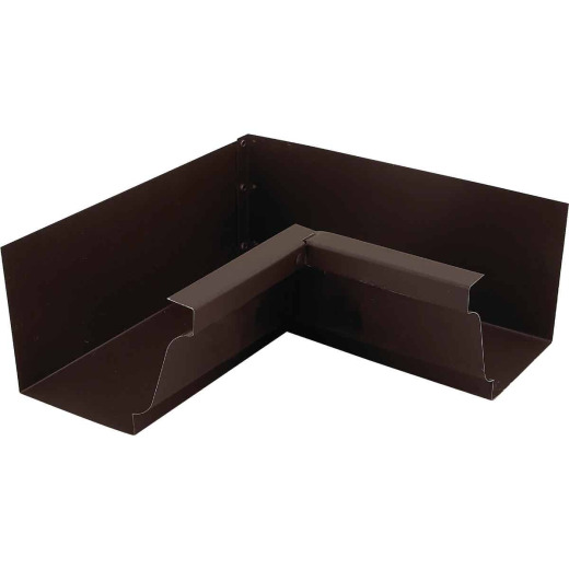 NorWesco 4 In. Galvanized Brown Gutter Inside Corner