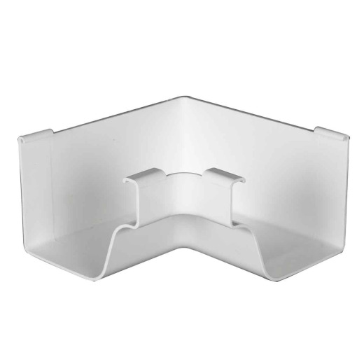 Amerimax 5 In. Traditional K-Style White Vinyl Gutter Inside Miter