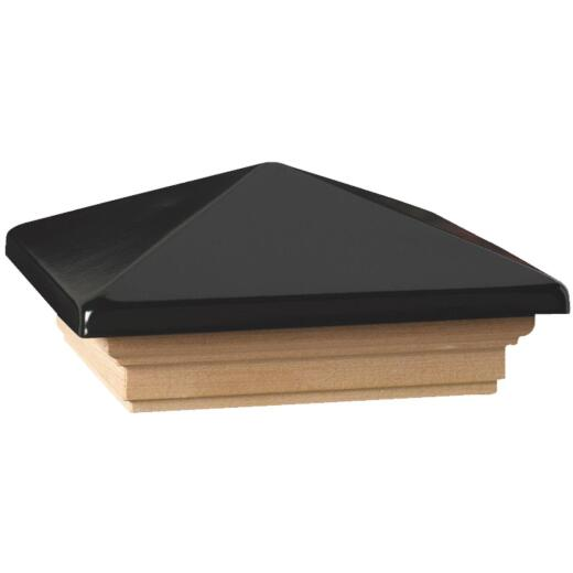 Deckorators 6 In. x 6 In. Plastic Top, Pressure Treated Pine Base Press-On Post Cap