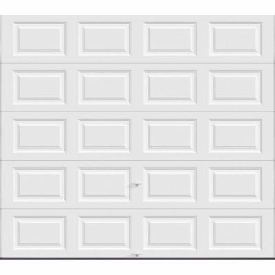 Holmes Bronze Series 9 Ft. W x 8 Ft. H White Steel Garage Door w/EZ-Set Torsion Spring