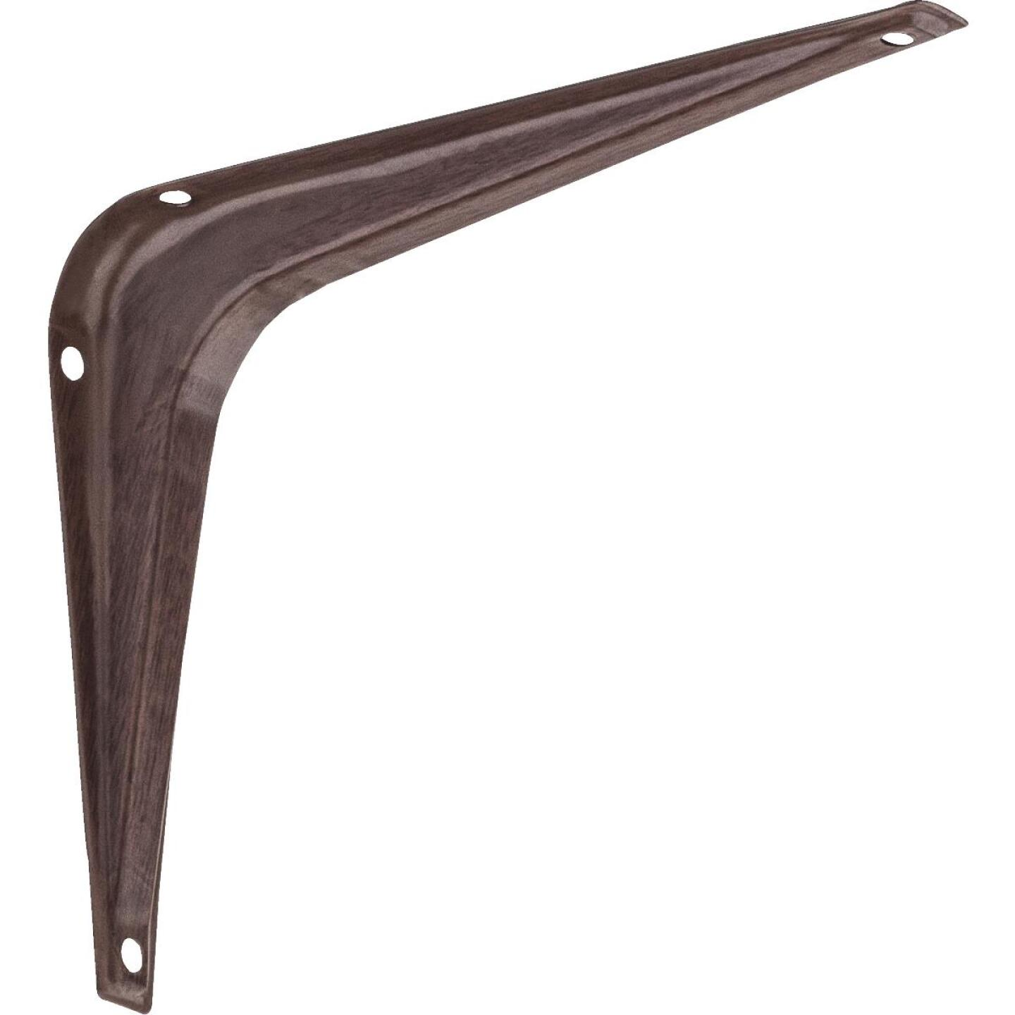National 211 5 In. D. x 6 In. H. Fruitwood Steel Shelf Bracket Image 1