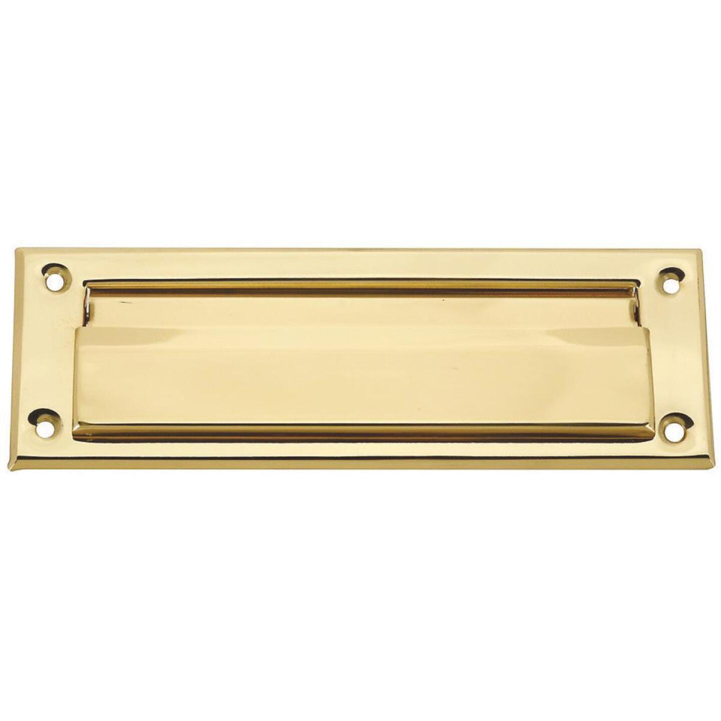 National 1-1/2 In. x 7 In. Polished Brass Mail Slot Image 1