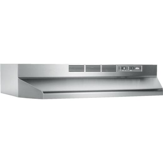 Broan-Nutone 41000 Series 24 In. Non-Ducted Stainless Steel Range Hood