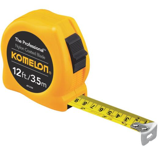 Komelon The Professional 3.5m/12 Ft. Metric/SAE Tape Measure