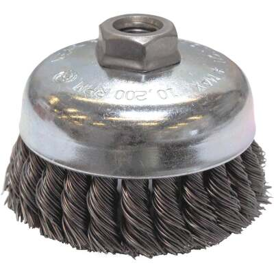 Weiler Vortec 4 In. Knotted 0.02 In. Angle Grinder Wire Brush