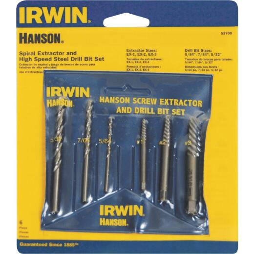 Irwin 6-Piece Drill bit and Screw Extractor Set