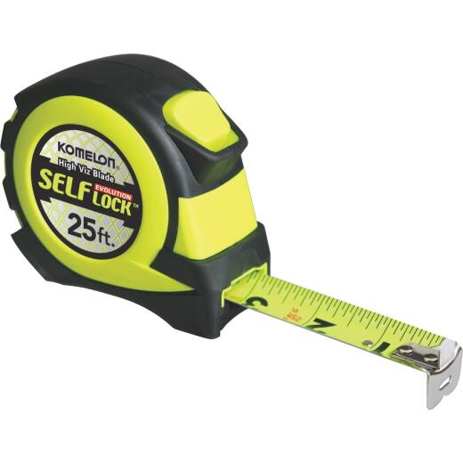 Komelon Evolution 25 Ft. Self-Lock Tape Measure