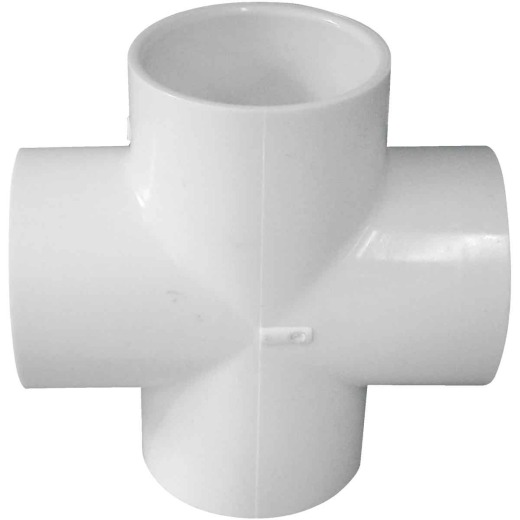 Charlotte Pipe Schedule 40 2 in. PVC Pipe Cross