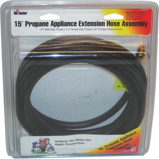 MR. HEATER 15 Ft. x 1/4 In. MPT x 1/4 In. FPT LP Hose Assembly