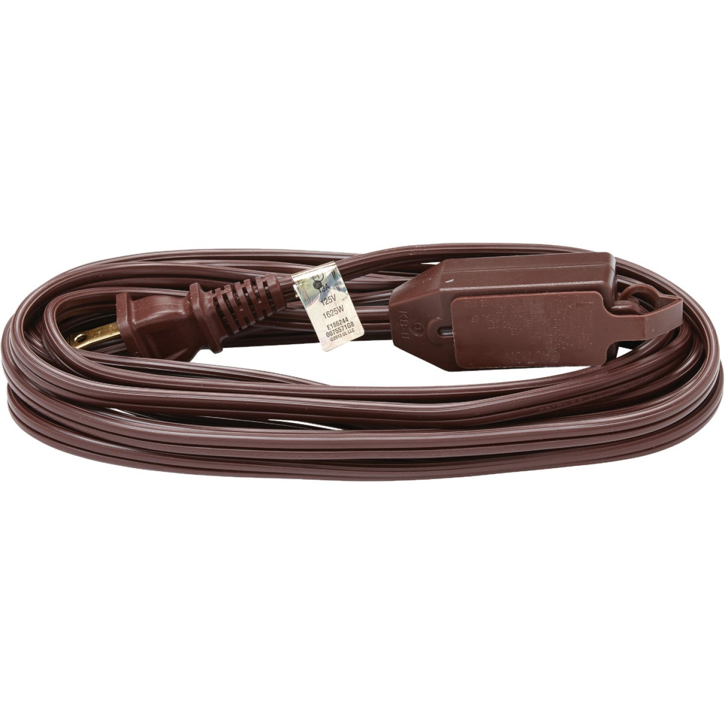 Do it Best 15 Ft. 16/2 Brown Cube Tap Extension Cord Image 2
