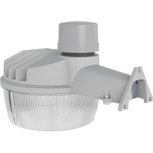 Halo Gray Dusk To Dawn Standard LED Outdoor Area Light Fixture, 4000 Lm.