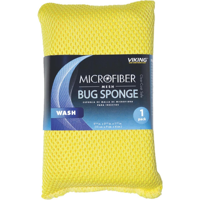 Viking 3-1/2 In. W x 6 In. L x 1-1/2 In. W Microfiber Mesh Car Wash Sponge Image 1