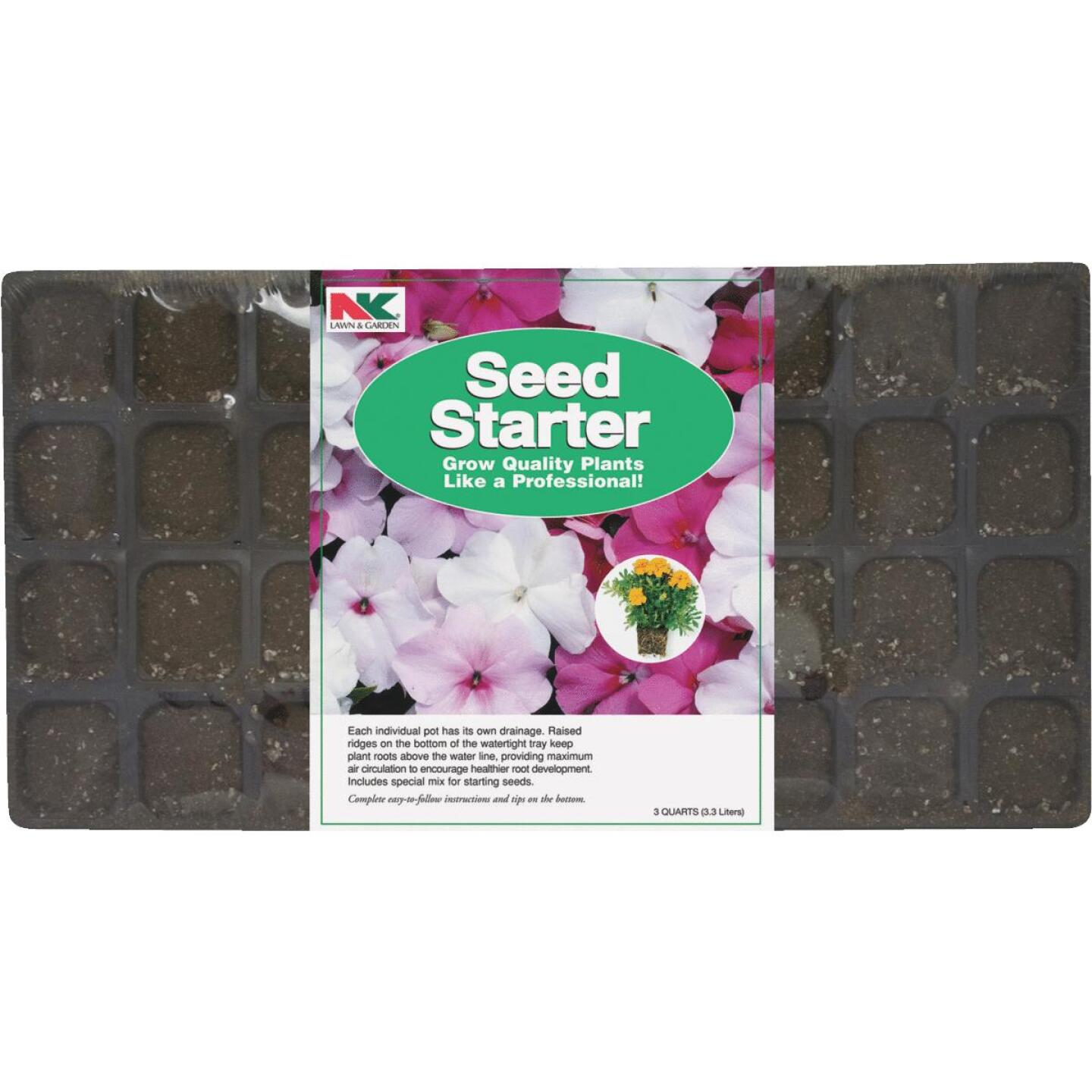 NK 36-Cell 22 In. W. x 11 In. D. Seed Starter Kit Image 1