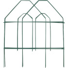 Best Garden 8 Ft. Green Galvanized Wire Folding Fence Image 1