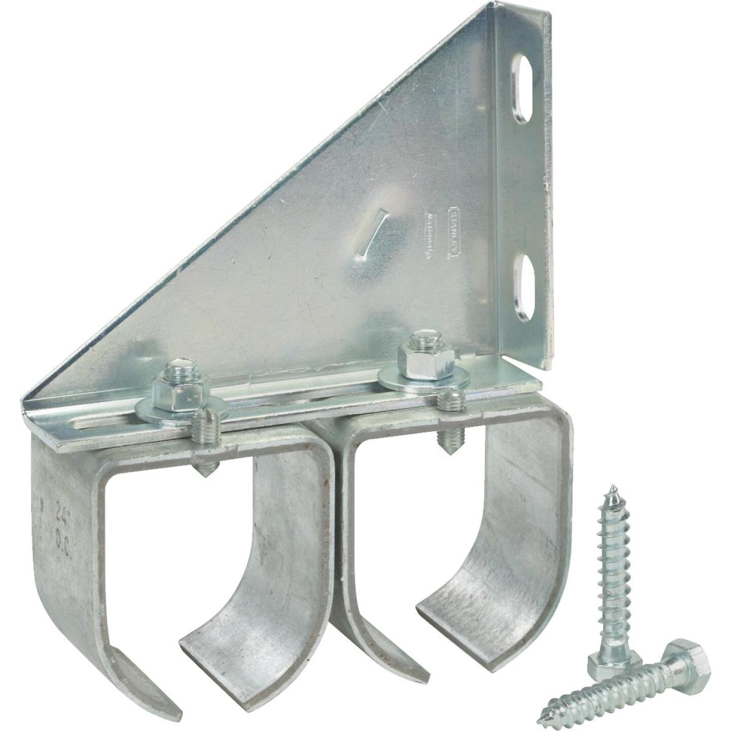 National Galvanized Double Splice Round Rail Barn Door Bracket Image 2