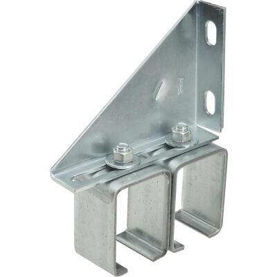 National Galvanized Double Box Rail Barn Door Bracket