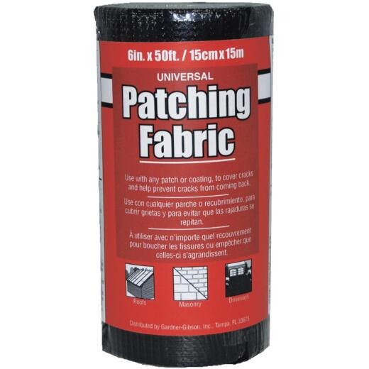 Gardner 6 In. x 50 Ft. Black Universal Patching Fabric